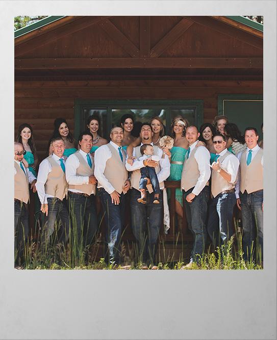 Sourdough Ranch Wedding Party Polaroid