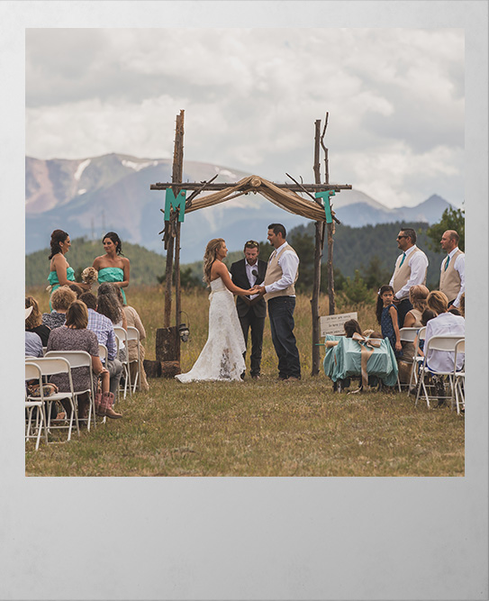 Wedding Polaroid picture from Woodland Parks Sourdough Valley Ranch